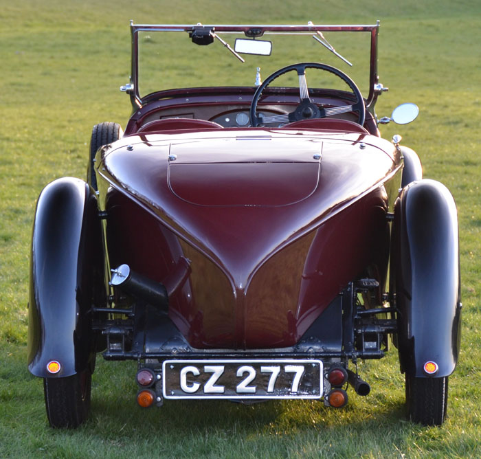 1932 Alvis 12 60 Beetleback Back