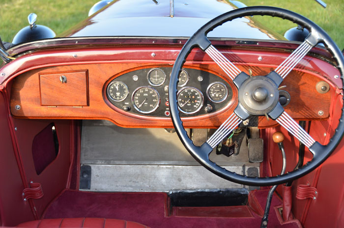 1932 Alvis 12 60 Beetleback Dashboard