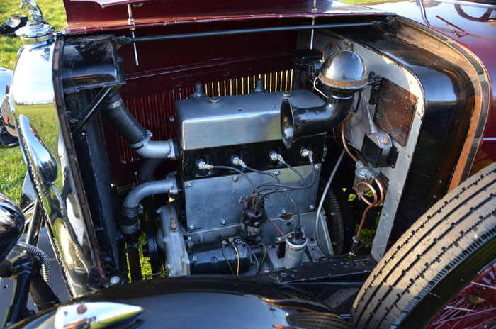 1932 Alvis 12 60 Beetleback Engine Bay