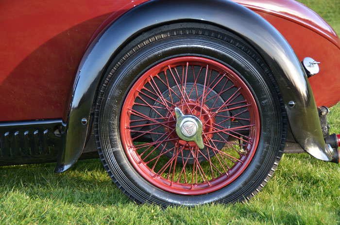 1932 Alvis 12 60 Beetleback Wheel