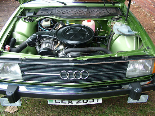 1977 audi 100 gls-typ43 engine bay