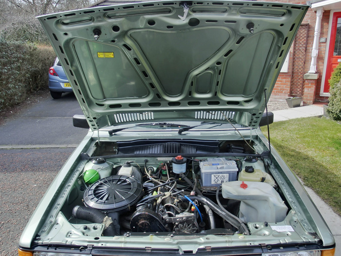 1984 Audi 80 1.8 GL Engine Bay Bonnet