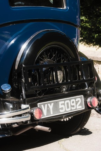 1934 Austin 10 4 Rear Spare Wheel Number Plate