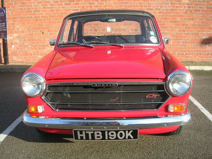 1971 austin 1300 gt flame red 2