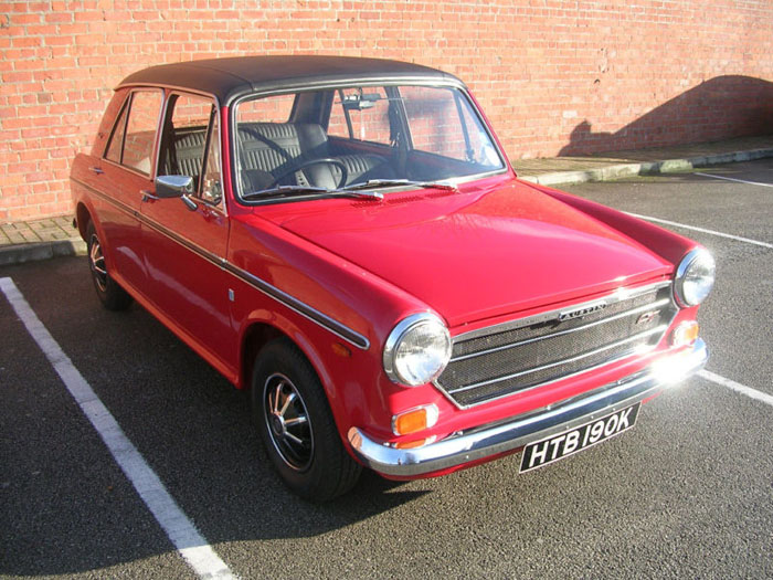 1971 austin 1300 gt flame red 3