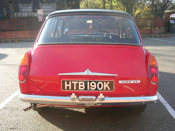 1971 austin 1300 gt flame red 4