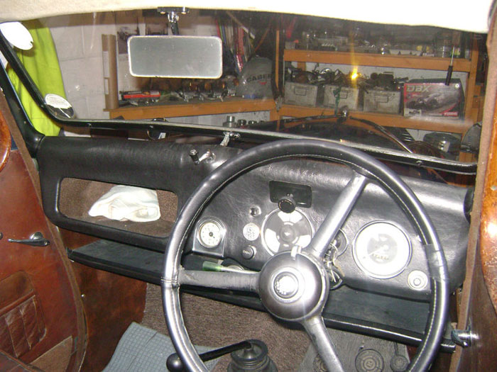 austin eight 1939 classic car dashboard