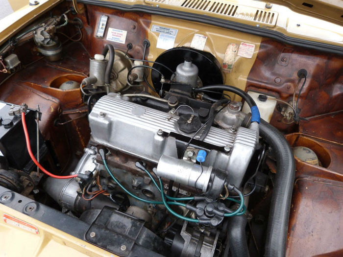 1974 Austin Allegro 1500 Super Engine Bay