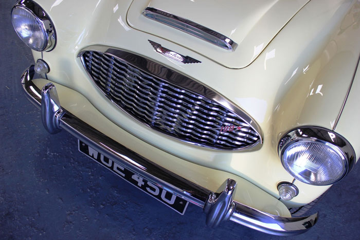 1957 Austin Healey 100-6 BN4 Front Closeup