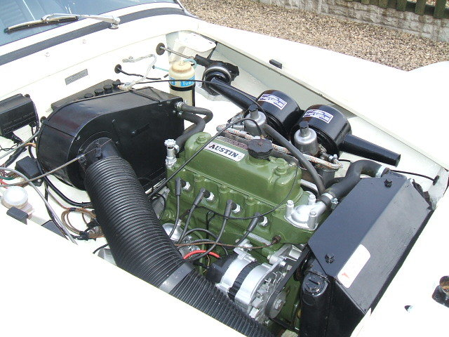 austin healey sprite white engine bay 1