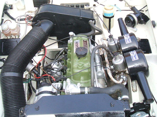 austin healey sprite white engine bay 2