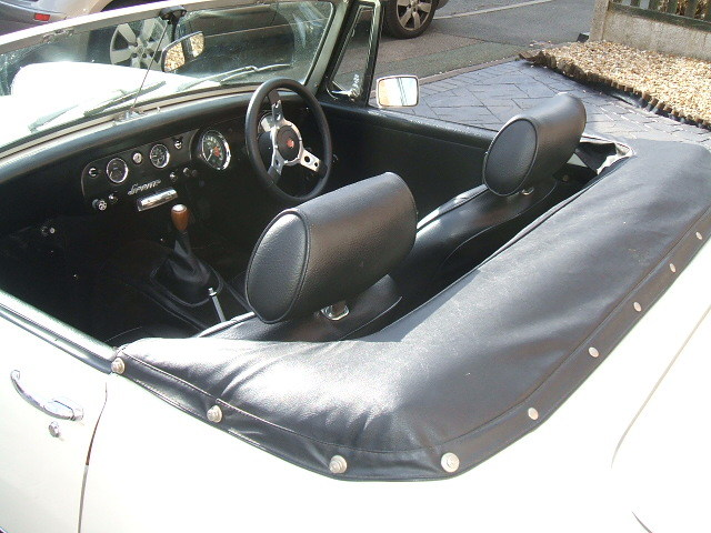 austin healey sprite white interior 1