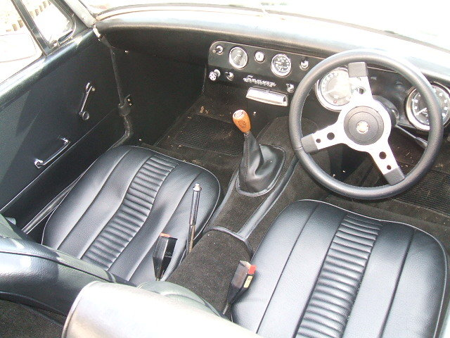 austin healey sprite white interior 2