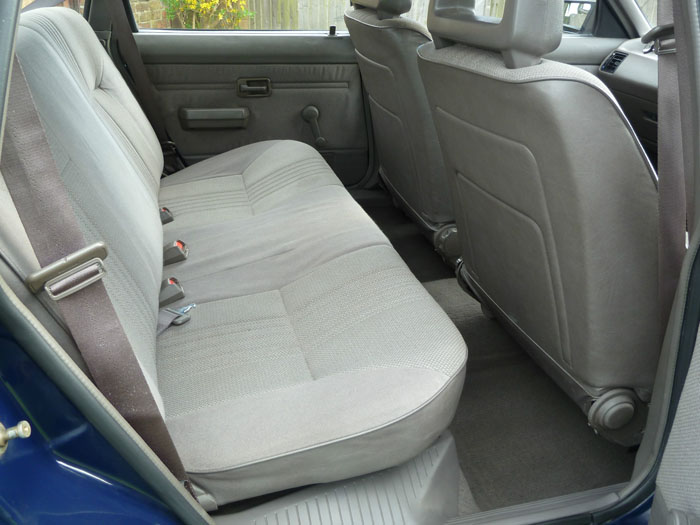 1987 Austin Maestro City X Rear Interior