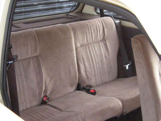 1985 austin metro city beige rear seats