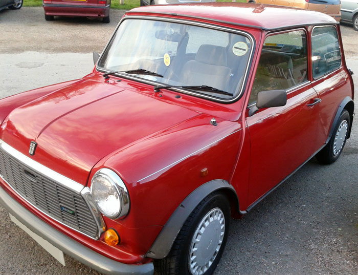 1988 austin classic mini mayfair auto red 2