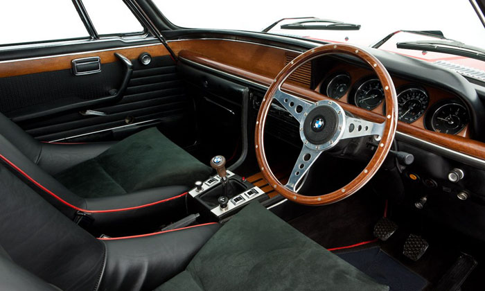 1973 bmw 3.0 csl verona red interior 2