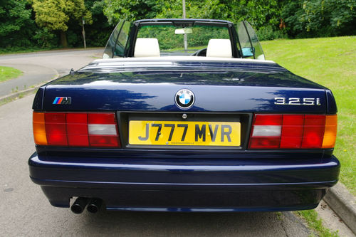 1991 BMW E30 325i Motorsport Convertible Rear Roof Down