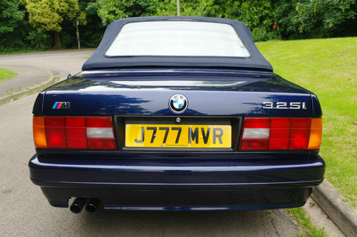 1991 BMW E30 325i Motorsport Convertible Rear Roof Up