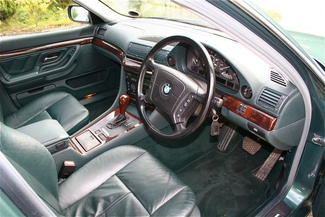 1997 bmw 728i auto green interior 1