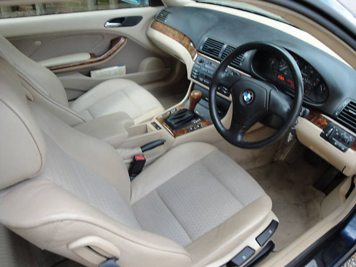 1999 bmw 318 ci auto blue e46 318ci interior 1