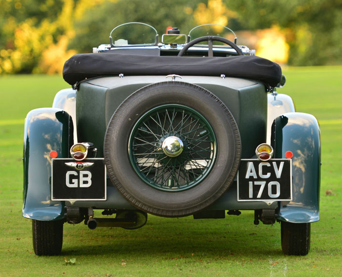 1934 Bentley 3.5 Litre Derby Back