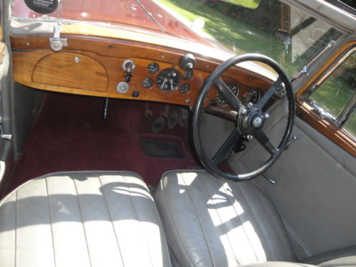 1937 bentley 3.5 litre park ward derby saloon interior dashboard
