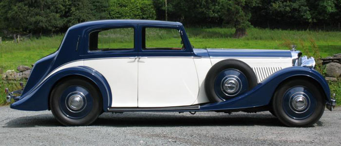 1938 bentley 4.25 litre park ward pillarless saloon 4