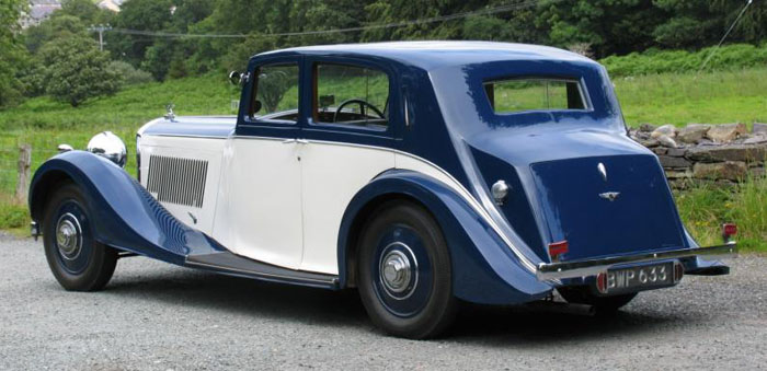 1938 bentley 4.25 litre park ward pillarless saloon 5