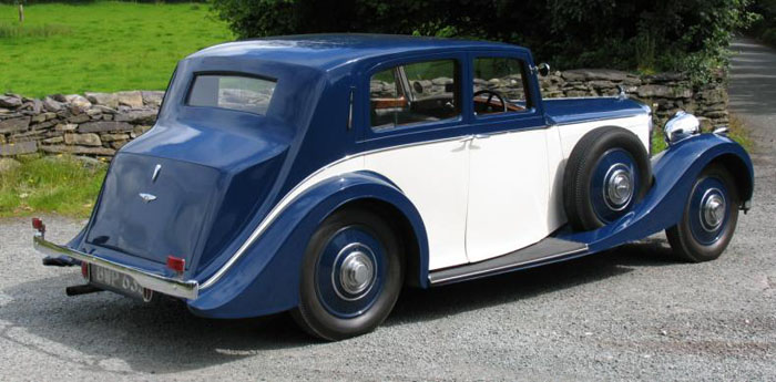1938 bentley 4.25 litre park ward pillarless saloon 6