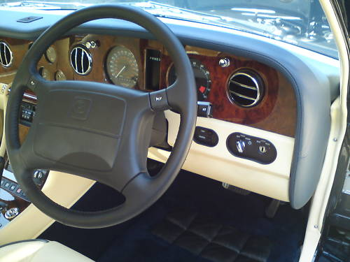 1996 bentley turbo r blue dashboard