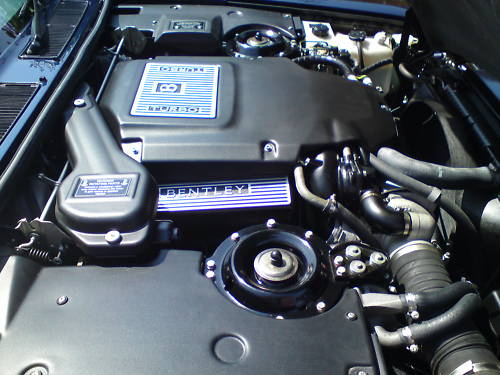 1996 bentley turbo r blue engine bay