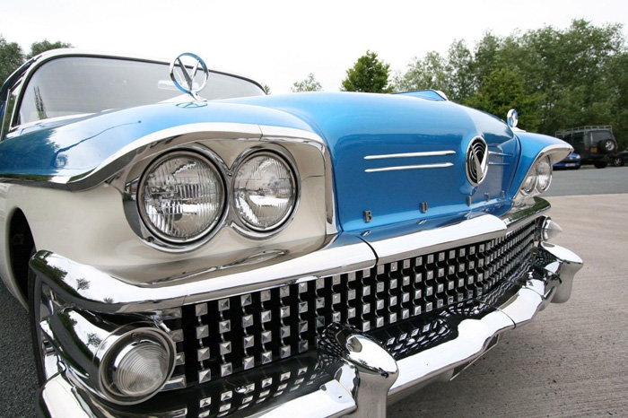 1958 Buick Century Front Closeup Lights Grille