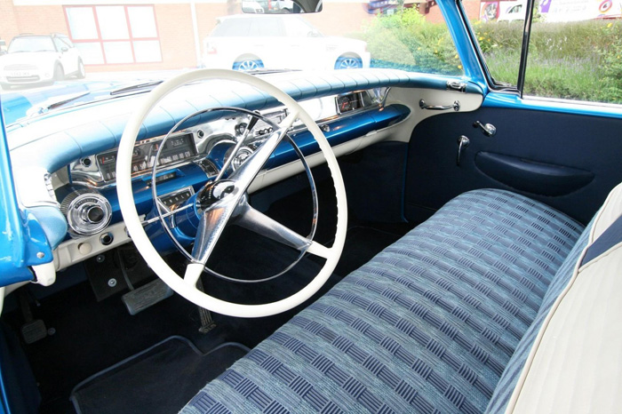 1958 Buick Century Front Interior Dashboard Steering Wheel