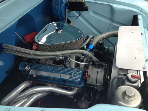1955 chevy pick up engine bay