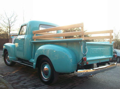 1951 chevrolet thriftmaster 3100 stepside bodied pick up 2