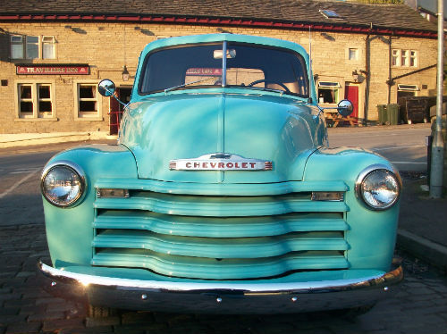 1951 chevrolet thriftmaster 3100 stepside bodied pick up front