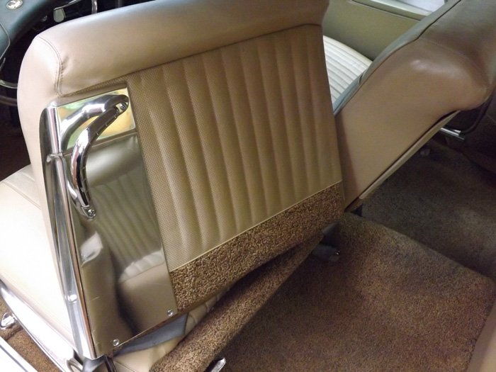 1963 Chrysler Imperial Custom Hardtop Back Of Front Seat