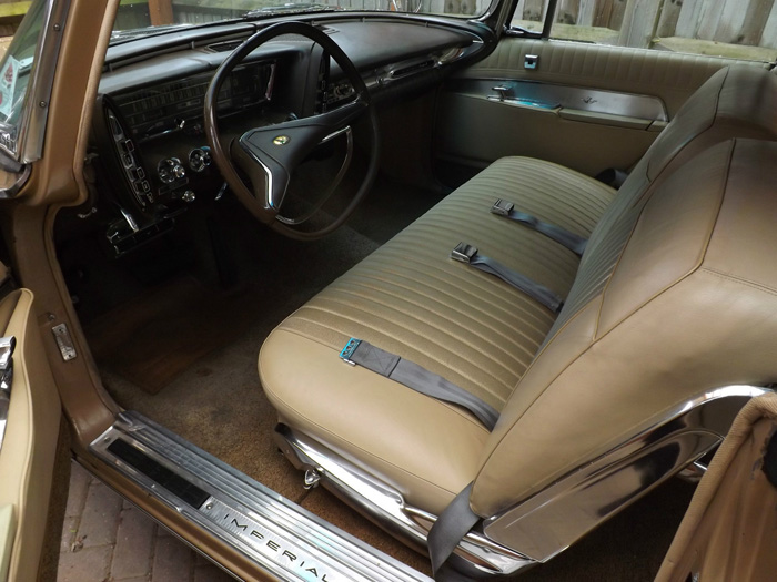 1963 Chrysler Imperial Custom Hardtop Front Interior