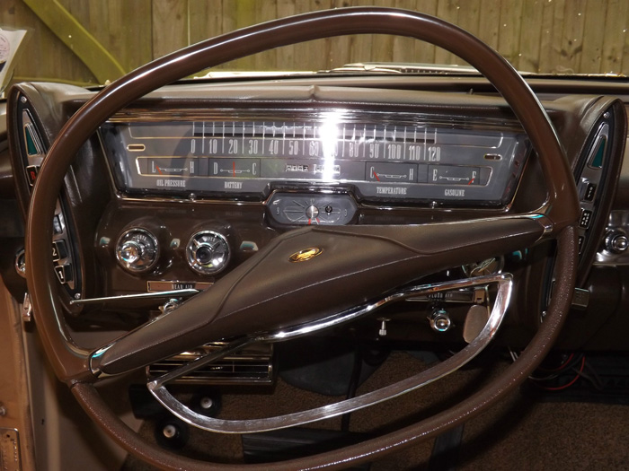 1963 Chrysler Imperial Custom Hardtop Steering Wheel Dashboard