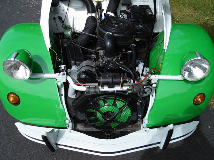 1989 citroen 2cv dolly engine bay