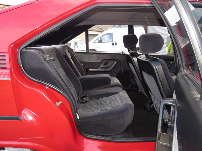 1989 Citroen BX 16 RS Pilot SE Rear Interior
