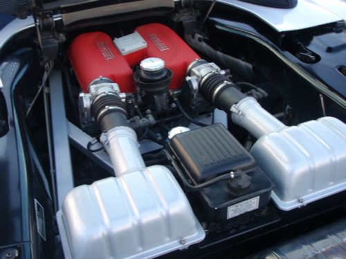 2003 03 ferrari 360 spider engine bay