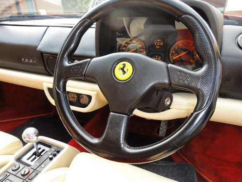 1996 ferrari f512m dashboard steering wheel