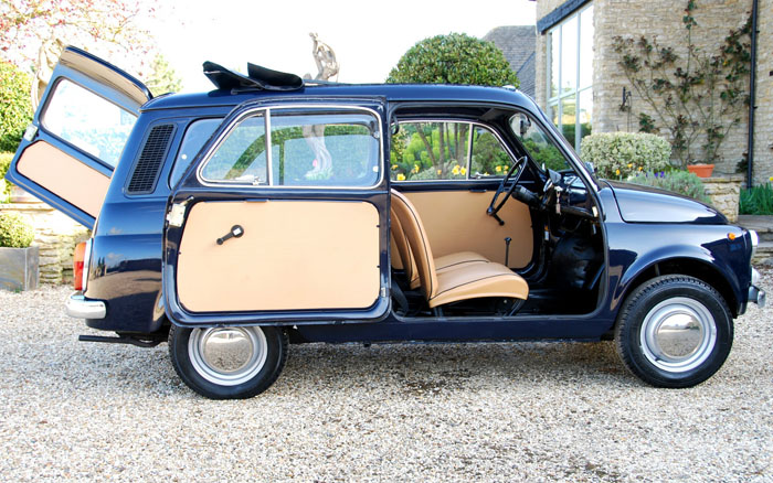 1973 Fiat 500 Giardiniera Estate Side Doors Open