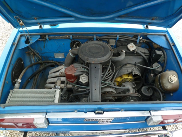 Fiat 850 Sport Spyder Engine Bay