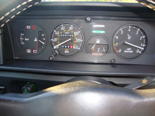 1990 Fiat X19 Bertone Grand Finale Dashboard Gauges