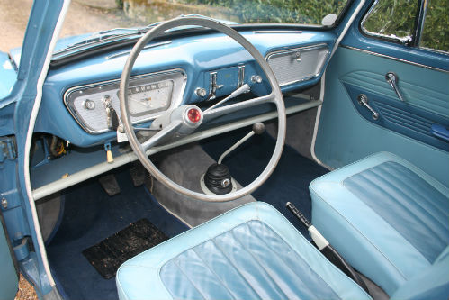 1963 Ford Anglia 105E Deluxe Combi Estate Interior Dashboard Steering Wheel