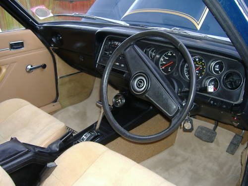 ford mark 1 capri 2.0 ltr gt auto interior