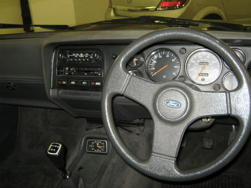 1986 ford capri 1600 laser interior dashboard